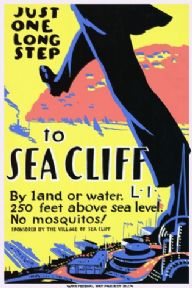 Vintage Travel Poster, Long Island, USA